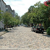 One of eight cobblestone streets left in Charleston.