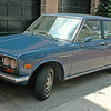Datsun- forerunner of the Nissan. This a daily driver. In prestine condition. I bet it is a little ole lady's car.
