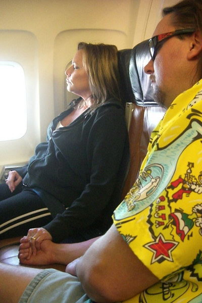 True love!  On the way from KCI to LAX.