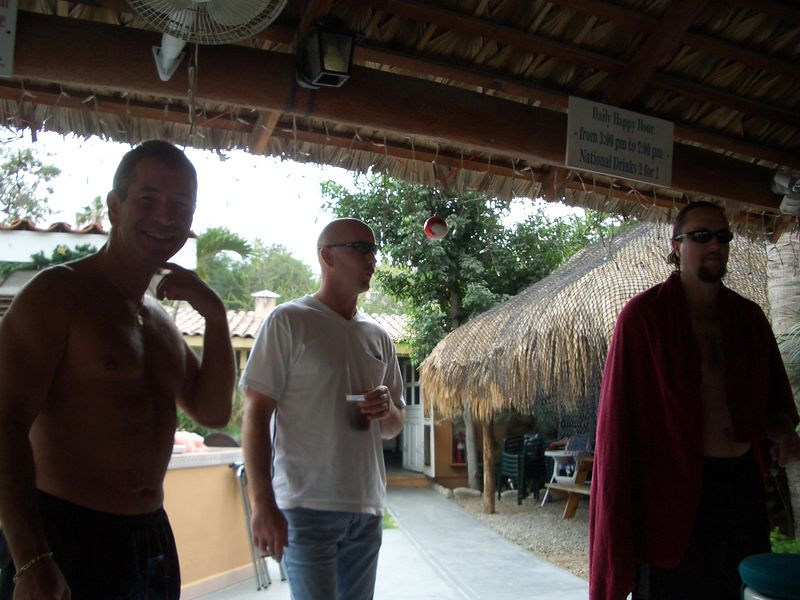 The start of Ann and Sly's pics.<br /> Chris, Sly, and Dale at the resort bar called The Oasis.