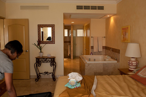 Our upgraded room.  jacuzzi in bedroom.  How cool is that.