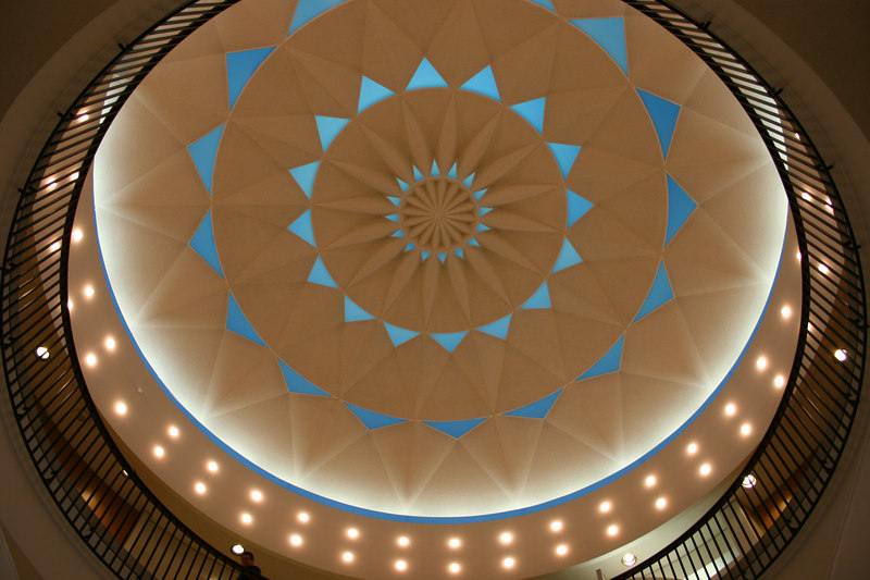 The rotunda in the LAX airport.