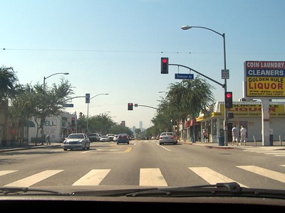 Saturday: The traffic in W. Hollywood.