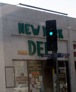 Saturday: The New York Deli in W. Hollywood.  Funny it should be on Genesee St.