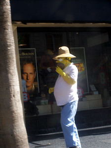 Hollywood:  Homer Simpson in a hat.