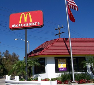 Monday: The McDonald's in Glendale Daniel used to eat at.