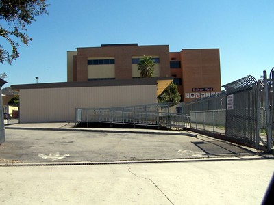 Monday: A side of Glendale High School (Dan's former stomping grounds).  This thing was bigger than the jail in Riverhead!