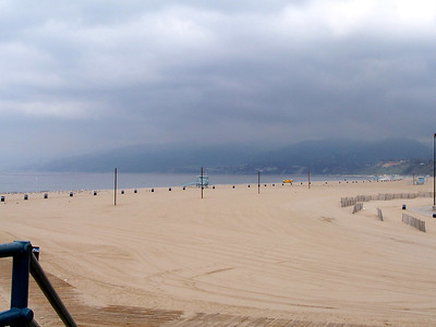 The beach of the Santa Monica Pier.