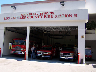 Universal Studios has its own fire station.