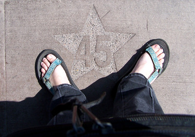 When in line for the studio tour, they made us stand on stars so we knew which row we were supposed to get into.  We wound up really lucky, as it was a beautiful day, and there were not so many people.  We never really had to wait in line for anything, and if we did, it was only for the next car/bus/tram/etc.