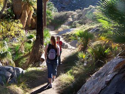 Indian Canyon: Carolyn & Jess.