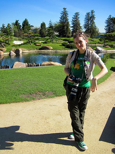The Japanese Gardens, Van Nuys, CA. Not really sure why this is my favorite pose...