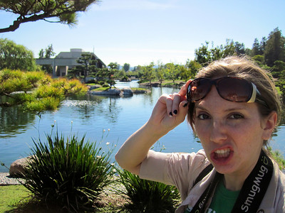 The Japanese Gardens, Van Nuys, CA. I make the strangest faces.
