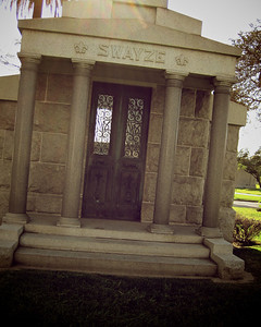 Hollywood Forever Cemetery, Hollywood, CA. Turns out, not actually the Swayze we thought it was.