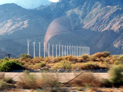 The windmills on the way to Palm Springs.