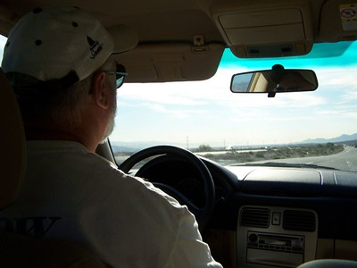 Dad driving.