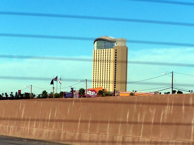 Casino Morongo, great mecca in the desert, rising up... in the daylight!