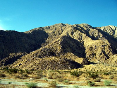 The mountains on the way to Palm Springs.
