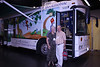 "June 23, 2012 (American Library Association 2012 Convention [Exhibit Hall] @ Anaheim Convention Center / Anaheim, Orange County, California) -- Mary Anne & David in front of the ""Parade of Bookmobiles"" exhibit"