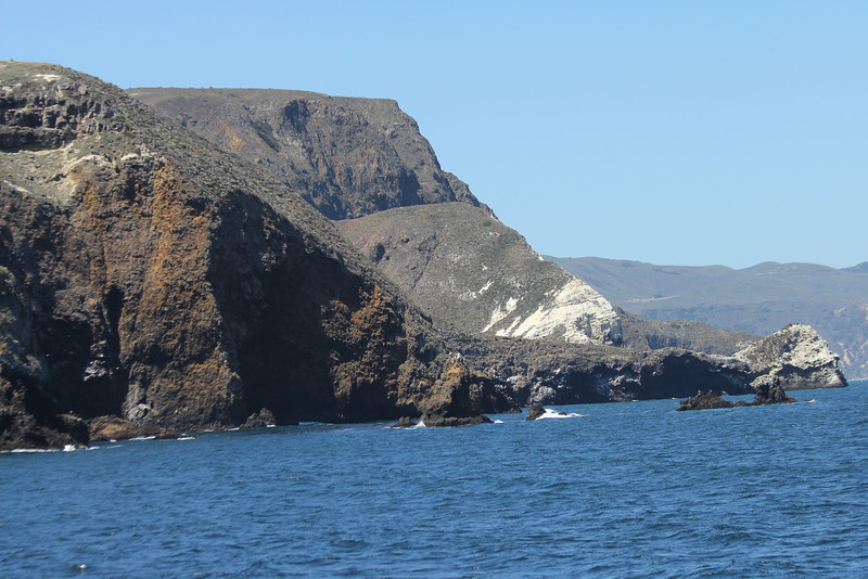 June 26, 2012 (Channel Islands National Park [from Island Packers' boat] / Santa Cruz Island, Santa Barbara County, California) -- Rock formations