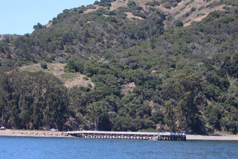 June 26, 2012 (Channel Islands National Park [from Island Packers' boat] / Santa Cruz Island, Santa Barbara County, California) -- Landing dock