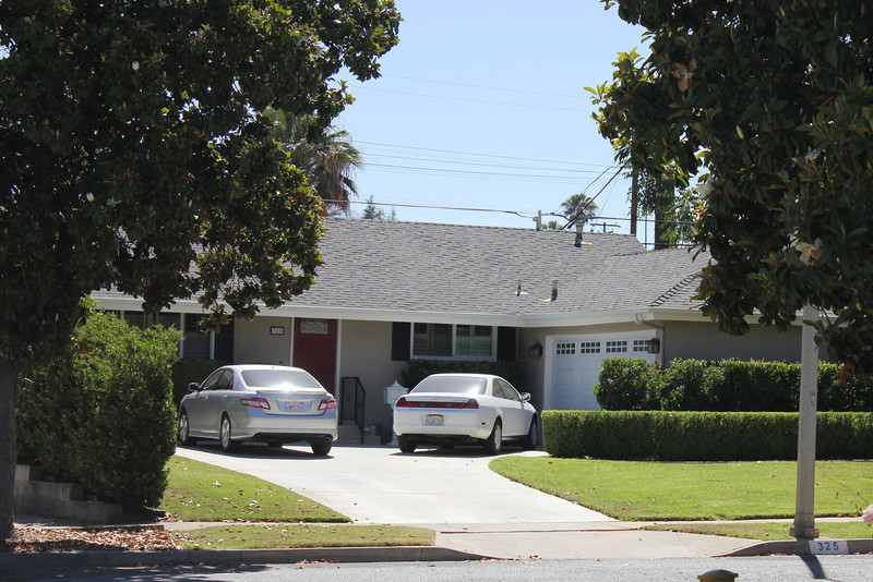 June 25, 2012 (San Rafael Avenue] / Redlands, San Bernardino County, California) -- Our Redlands home from 1975-79