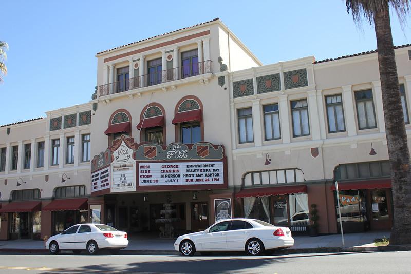 June 25, 2012 (Fox Theater [on Cajon Street] / Redlands, San Bernardino County, California) -- The theater where I took Cristen to see Cinderella