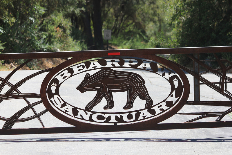 June 25, 2012 (Bearpaw Nature Preserve [entrance] / Forest Falls, San Bernardino County, California) -- Gate signage