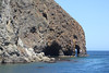 June 26, 2012 (Channel Islands National Park [from Island Packers' boat] / Santa Cruz Island, Santa Barbara County, California) -- Kayakers under rock formations