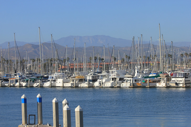 June 26, 2012 (Ventura Marina [from window of Milano's Restaurant] / Ventura, Ventura County, California) -- Marina