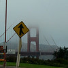 Our first glimpse of the Golden Gate bridge.