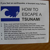 To go along with all the Tsunami signs along the road the hotels also have these warning notes.