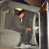 Keith in a model of a space capsule.