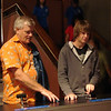 John and Keith playing a racing game. This Science Center is a hands-on facility and was fun.