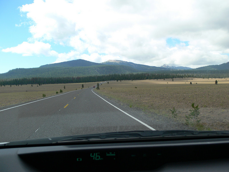 We had driven in tree lined roads so much it was a surprise to see an open field.