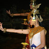 Apsara dancers at Angkor Mondial Restaurant.   Their hands represent flower buds in this position.