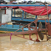 Propellers on boats at Tonle Sap Lake are designed to operate in shallow water