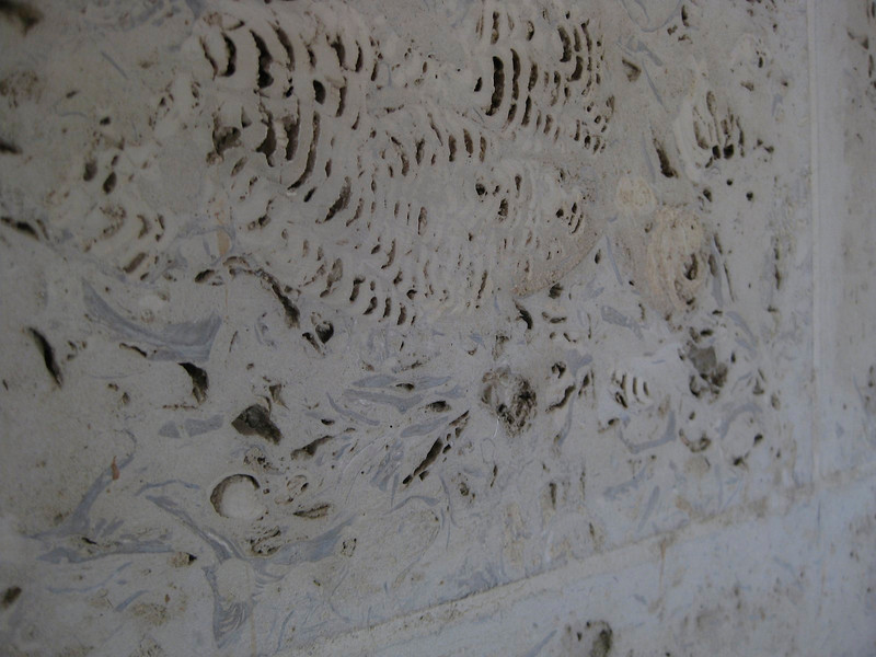 cheap marble showing where its origins lie