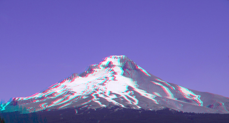 3D Mt Hood from Dam morning P8216782