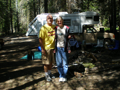 Camping with the Densons at Sequel in May 2009.