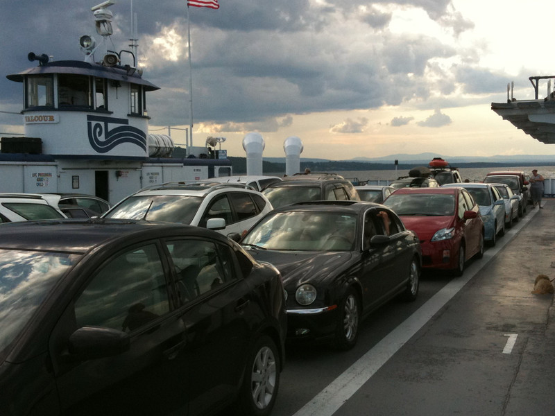 Riding the ferry to VT.