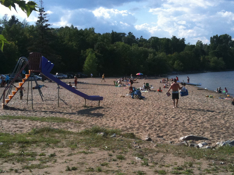 Playground by the lakeshore at the ferry into VT.