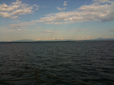 Beautiful day on the ferry to VT.