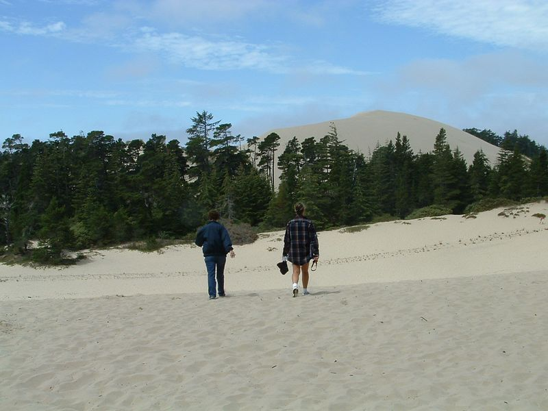 Teri and Diane on the dunes