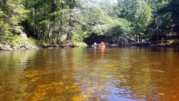 Between ponds - stream kayaking