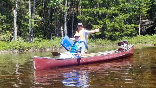 Carol's brother Ed ad Steve took the canoe.