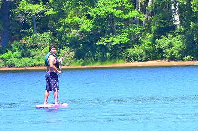 William on rented board.