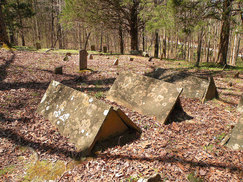 Glasscock cemetery and the comb style graves that are peculiar to the Cumberland Plateau.<br /> These graves go back some to Revolutionary War times, some to Civil War times, and others are more recent.  Located in Standing Stone State Forest, TN