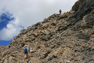 Tyler on the top the ridge on the way up Cirque Peak