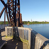 Bike path bridge view point of Fredericton using GoPro.  Video short due to low battery.